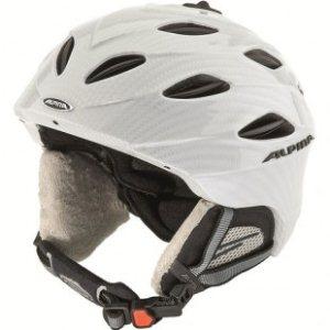 Alpina Ski Helmet Alpina Cybric Ski Helmet White Carbon Skate - Alpina ski shop